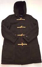 POLO RALPH LAUREN BLACK HOODED LAMB SHEARLING COAT SIZE LARGE