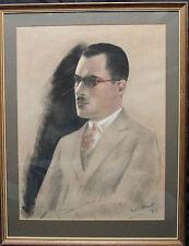 Jacob Kramer 1892-1962 Macho Retrato Pintura Pastel 1925 británica moderna Arte