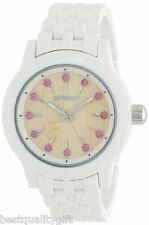 SPROUT WHITE CORN RESIN+PINK SWAROVSKI CRYSTALS+BAMBOO DIAL WATCH ST/6803PKWT