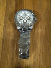 Mens Wrist WATCH- Analog- Band Clasp- Stainless Back- ROSRA- SILVER WHITE