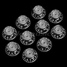 10 Transparent BELL Speed Control KNOB FOR ELECTRIC GUITAR Top Hat