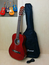 3/4 Caraya Nylon string Classical Guitar RED EQ.Free Bag,Picks,Tuner-X'mas Gifts