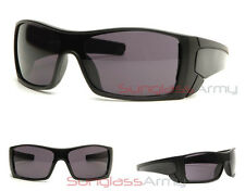"""Batwolf Sunglasses"" MATTE BLACK sports wrap hunting fishing driving mens shield"