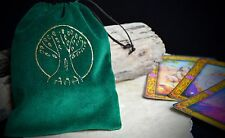 Tree of Life GREEN VELVET TAROT BAG Wicca Pagan Witchcraft Divination