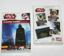 STAR WARS Sci-Fi Movie Lucas Films FAMOUS QUOTES Single Deck PLAYING CARDS New