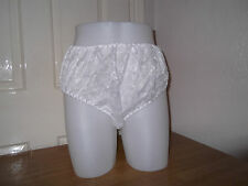ADULT BABY~SISSY~MAIDS~UNISEX  PVC LINED LACE  PANTIES~NAPPY DIAPER COVER