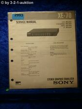 Sony Service Manual XE 70 Graphic Equalizer (#2993)