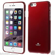 Genuine MERCURY Goospery Red Soft Jelly Case Cover Skin For Apple iPhone 6/6s