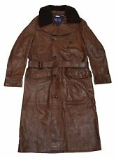 Polo Ralph Lauren Purple Label Mens Leather Shearling Jacket Brown Italy Medium