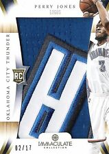 Perry Jones 2012-13 Panini Immaculate Team Logos 4-Color Patch 2/17 RC Mint OKC