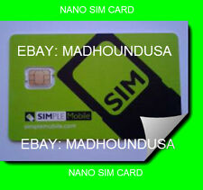 Simple Mobile Nano SIM Card Starter Kit Prepaid #302