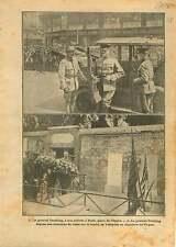 WWI Général Pershing Place de L'Opera/Tombe de Lafayette Paris 1917 ILLUSTRATION