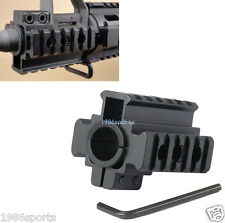"Hunt Weaver Picatinny 7/8"" 20mm Tri-Rail Barrel mount For Rifle scope Lights #12"