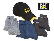 CATERPILLAR Black Yellow CAT HAT & SOCKS COMBO SET *6 Pairs + Cotton Canvas CAP