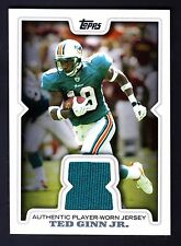 2008 TOPPS TED GINN JR #R-TGI AUTHENTIC JERSEY GAME WORN RELIC CARD DOLPHINS HTF