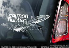 Salmon Hunter - Car Window Sticker  - n.Carp/Pike/Fly Fish Fishing Fisherman