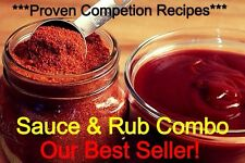 ***Proven Competition Bbq Sauce And Rub Recipe Combo***