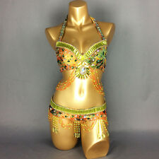 Free shipping new women's belly dance costume sexy clothes bra&belt&arm 3pcs set