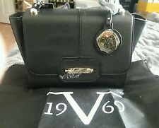 Versace 19v69 Abbigliamento Sportivo Cambridge Kiss Lock Black Satchel Bag