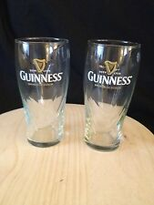 "Guinness Irish Stout ""NEW"" set of 2 Beer Glasses"