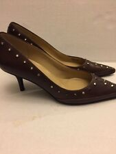 MICHAEL KORS Studded Leather Pumps Brown womens US 10 M UK 8 EUR 40.5