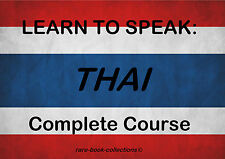 LEARN TO SPEAK THAI - LANGUAGE COURSE - 3 BOOKS & 22 HRS AUDIO MP3 ALL ON DVD!