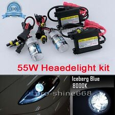 A Pair Car 55W H7 8000k Ice Blue OEM HID Xenon Replacement Bulb KIT Set Light QL