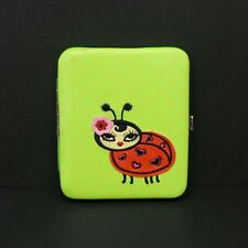 Flat Wallet Ladybug Hearts Dots Opera Clutch ID Window Card Holder Piano Hinge