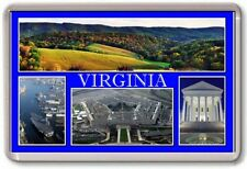 FRIDGE MAGNET - VIRGINIA - Large - USA America TOURIST