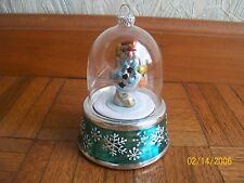 MR. CHRISTMAS MUSICAL SNOW MAN WIND UP ORNAMENT GLOBE TWIRL SO CUTE!!!!