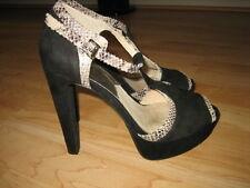 Michael Kors Black Platform Sandals Open Toe High Heel Shoes Size 7.5 M