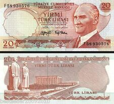 TURKEY 20 LIRASI UNC  # 222