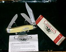 "Camillus #711 Knife Yello Jaket Stockman 3-7/8"" Closed W/Packaging & Papers USA"