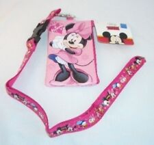 PINK Minnie Mouse Lanyard Disney Zipper Wallet Pouch ID Badge Fast Pass Holder