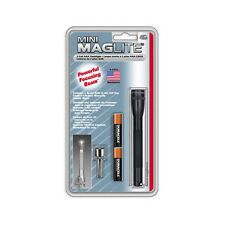 "Mini-Mag Lite - 1 ""AAA"", Black with Clip 5 inches long"