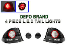 4pcs DEPO 01 02 03 04 05 Lexus IS300 IS200 JDM BLACK SMOKE LED Rear Tail Lights