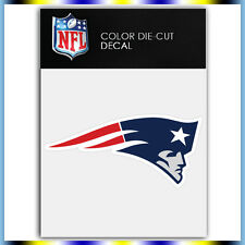 "New England Patriots Logo NFL Die Cut Vinyl Sticker Car Bumper Window 2""x4"""