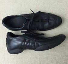 Christian Dior Black Leather Sneaker. Size 38/8