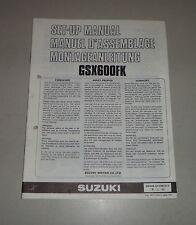 Montageanleitung / Set Up Manual Suzuki GSX 600 F Stand 08/1988
