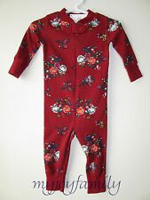 HANNA ANDERSSON Baby Organic Zip Sleeper Swedish Bouquet Floral 80 18-24 2T NWT