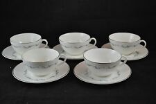 Royal Doulton Coronet Set of 5 Cups and Saucers