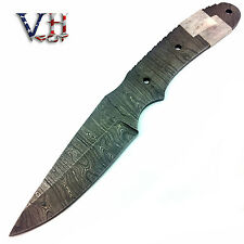 "VHCut Hand Forged Damascus Blank Blade ""TWIST"" Pattern / Knife Supply 2iT609"