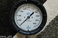 Wika 4-1/2 Inch Dial, 1/2 Inch NPT , 0 to 10000 Scale Range Pressure Gauge XSEL