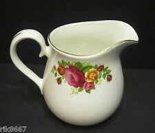 Cottage rose English Fine Bone China 1 Pint Milk Jug (Gold Rim) By Milton China