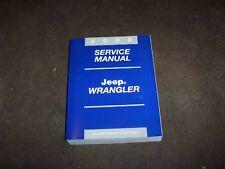 2002 Jeep Wrangler Shop Service Repair Manual SE X Sport Sahara 2.5L 4.0L 4WD