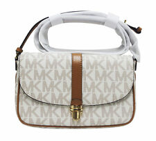 Michael Kors Charlton White Ivory Vanilla Large Crossbody PVC Hand Bag