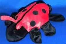 Insect Lady Bug Hand Puppet Black Red Soft Plush NEW Dream Intl Made to Love Hug