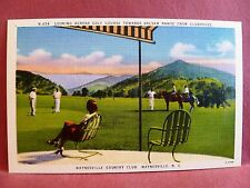 Postcard NC Waynesville Country Club Looking Across Golf Course Balsam Range