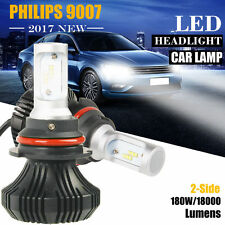 180W 18000LM LED Headlight Kit 9007 HB5 Hi/Low Beam Bulbs White 6500K PHILIPS