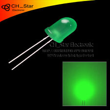 50pcs LED 8mm Diffused Green-Green Round Top F8 DIP Light Emitting Diodes
